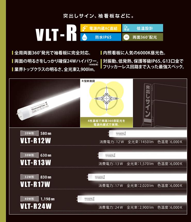 両面発光 袖看板用 配光角度360度 VRT−Rシリーズ
