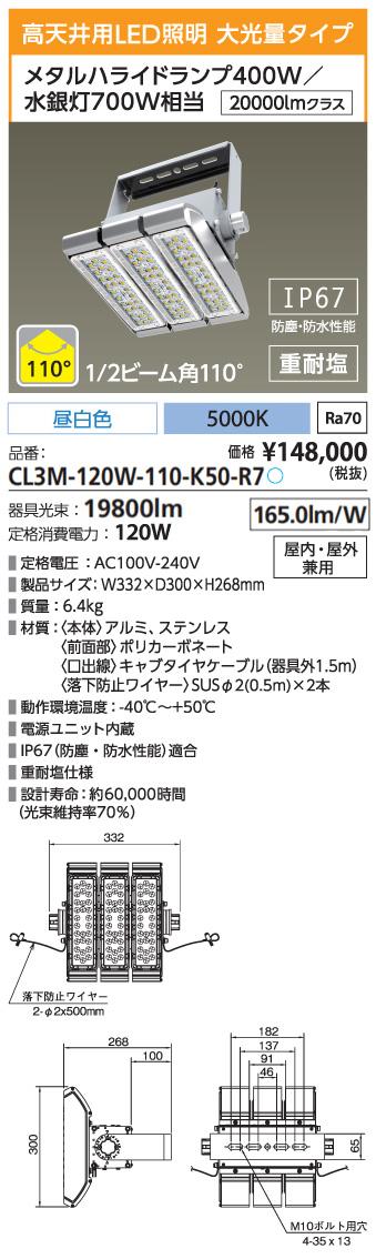 CL3M-120W-110-K50-R7