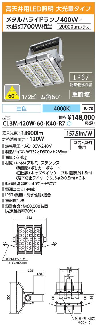 CL3M-120W-60-K40-R7