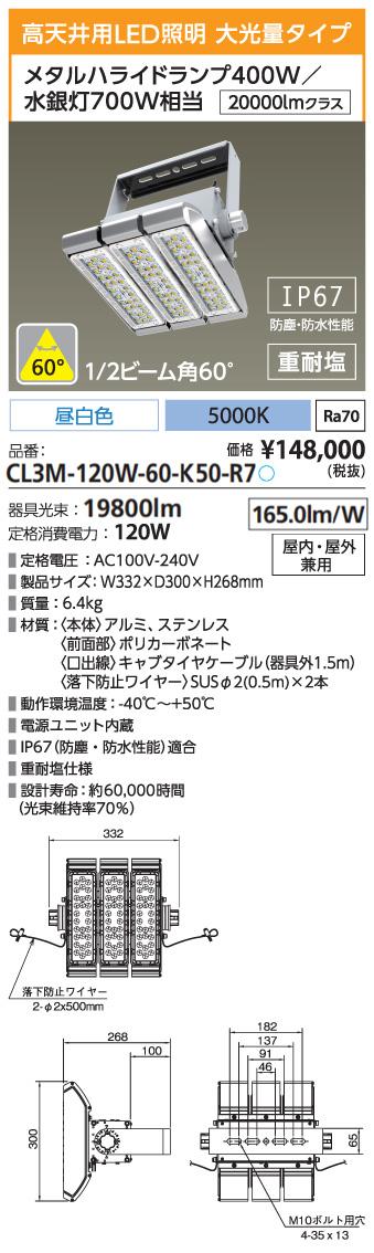 CL3M-120W-60-K50-R7