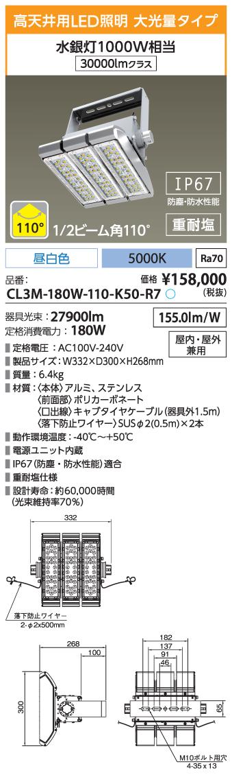 CL3M-180W-110-K50-R7