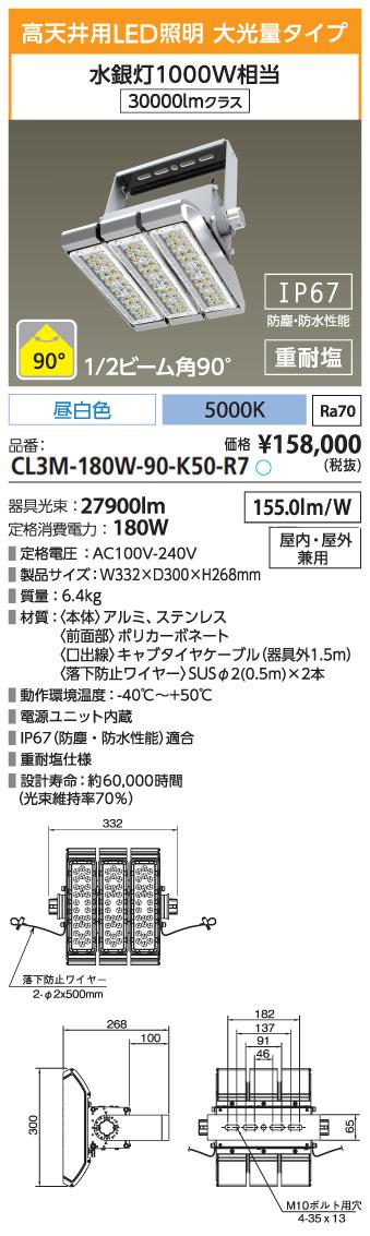 CL3M-180W-90-K50-R7