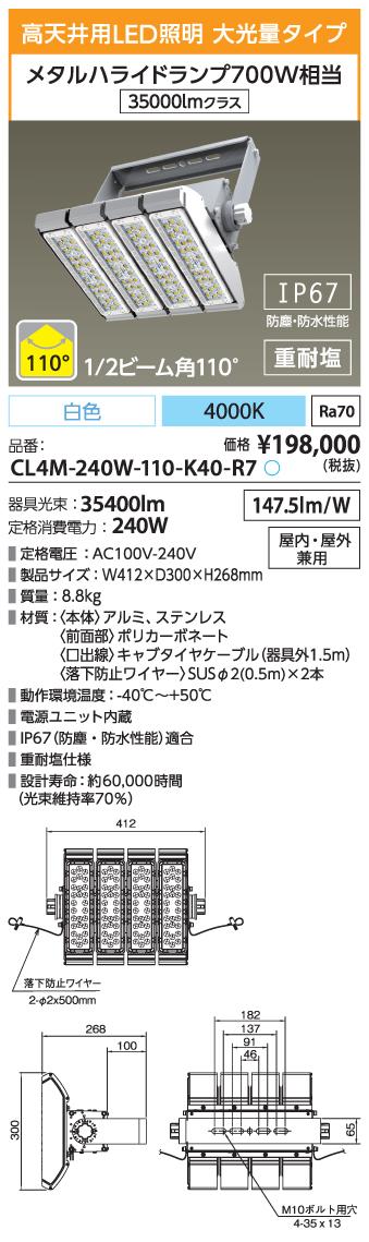 CL4M-240W-110-K40-R7