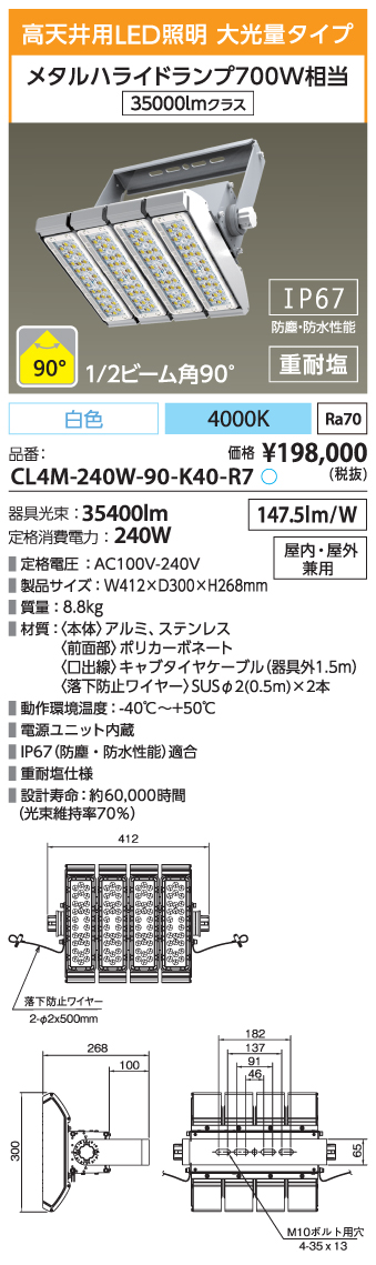 CL4M-240W-90-K40-R7