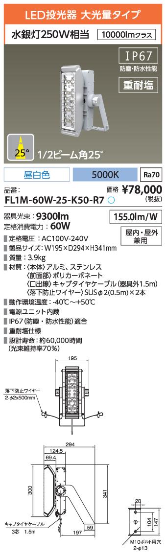 FL1M-60W-25-K50-R7
