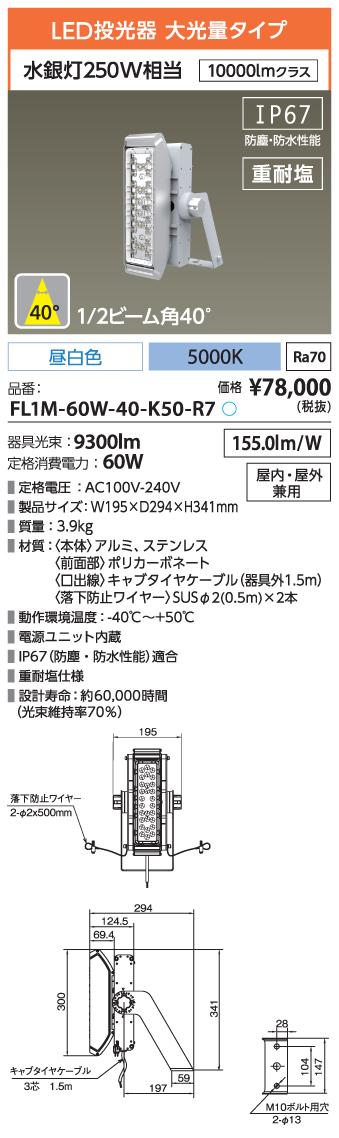 FL1M-60W-40-K50-R7