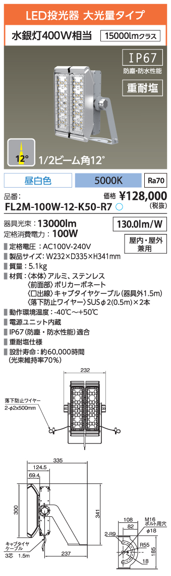 FL2M-100W-12-K50-R7