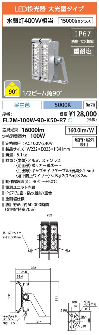 FL2M-100W-90-K50-R7