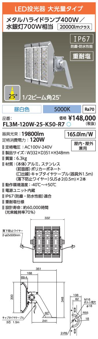 FL3M-120W-25-K50-R7