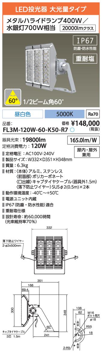 FL3M-120W-60-K50-R7