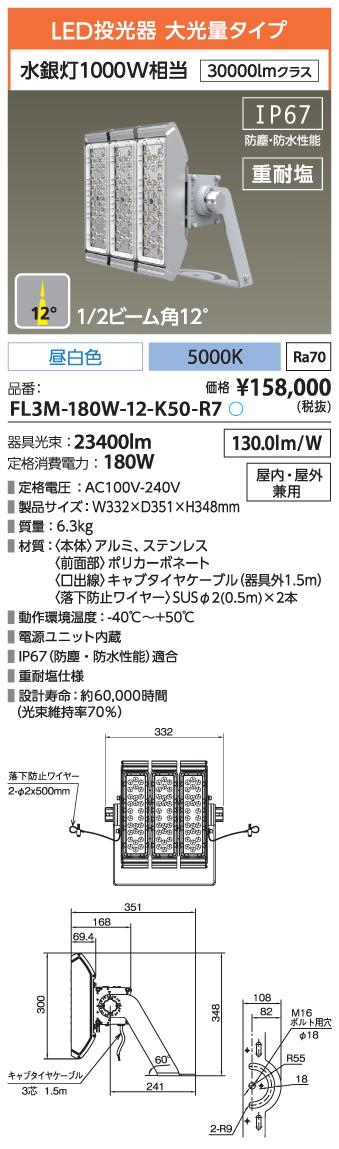 FL3M-180W-12-K50-R7