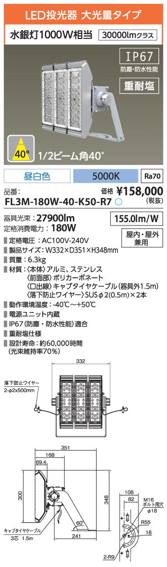 FL3M-180W-40-K50-R7
