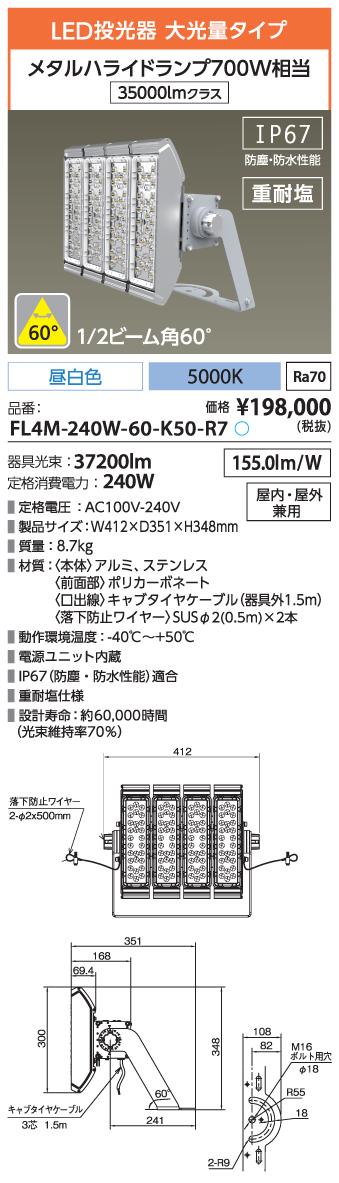 FL4M-240W-60-K50-R7