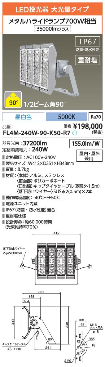 FL4M-240W-90-K50-R7