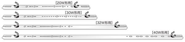 LEDGLOW ホルダー(サッシ + クリップ + リード線付防水ソケット)