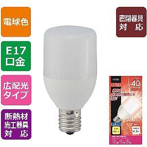 オーム電機 T形(広配光・密閉器具対応)LED電球