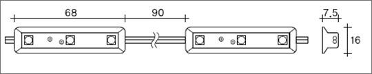 SSライト LEDモジュール LEDモジュール 単色3球