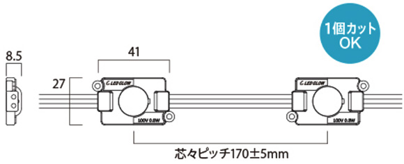 LED GLOW AC100V LEDモジュール