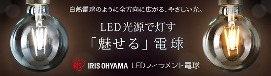 【セット販売】アイリスオーヤマ LEDフィラメント電球(ボール形) 特集