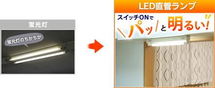 アイリスオーヤマ 電気工事不要直管LEDランプ