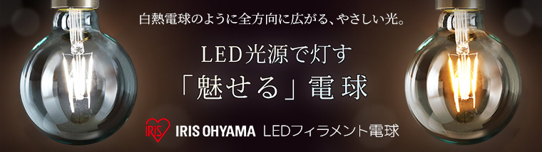 アイリスオーヤマ LEDフィラメント電球 (ボール形)特集