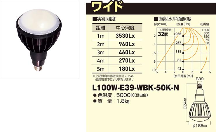 L100W-E39-WBK-50K-N