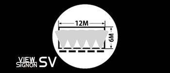 W:12M/H:6Mの超大型サインを5灯でカバー