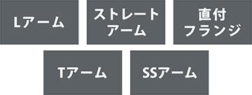 5種類のアーム