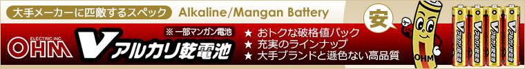 【格安商品!】 アルカリ/マンガン乾電池 破格値パック