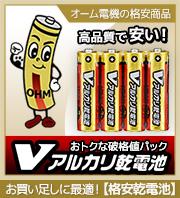 【格安商品!】オーム電機 アルカリ/マンガン乾電池 破格値パック