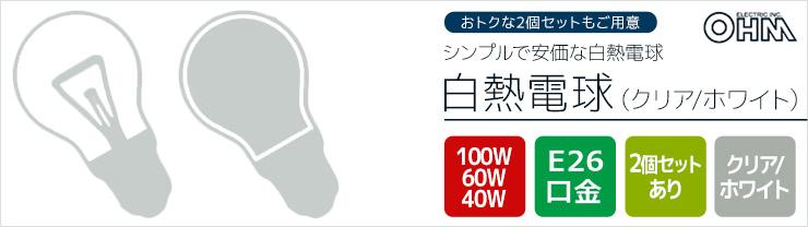 シンプルで安価!オーム電機 白熱電球
