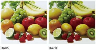 高い演色性(Ra85)