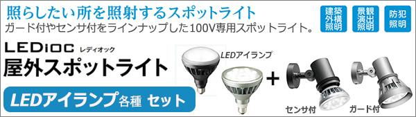 岩崎電気 LEDioc 屋外スポットライト LEDアイランプSET