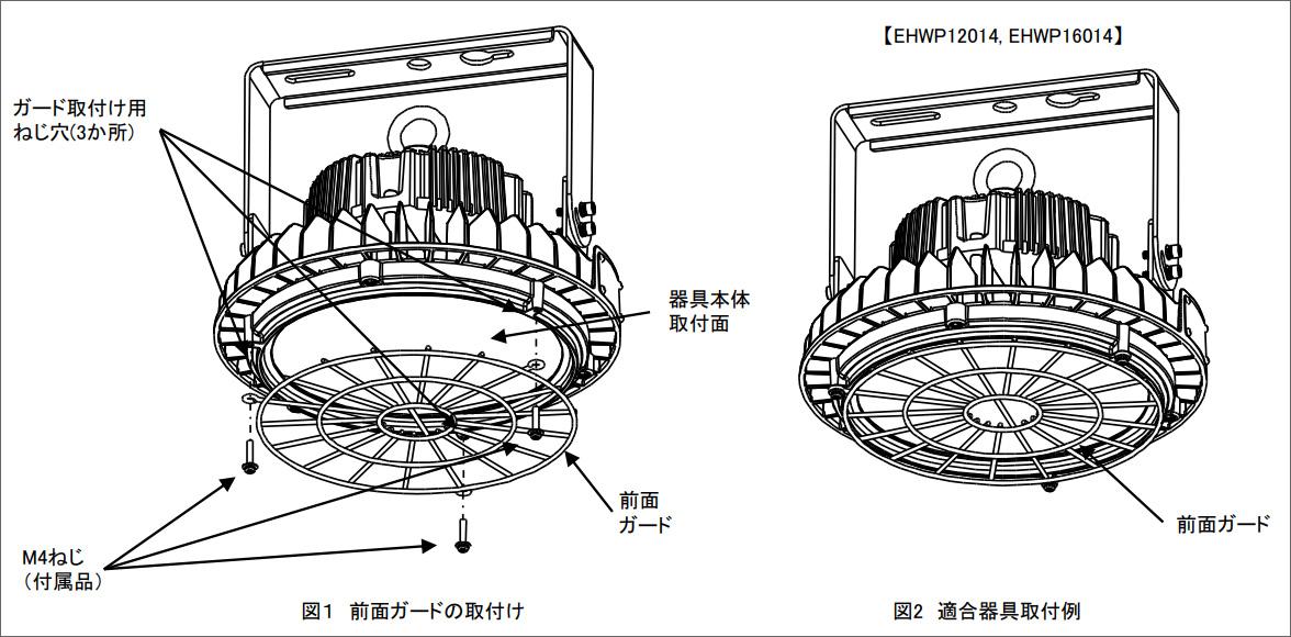 LEDioc HIGH-BAY 用 ガードの仕様について