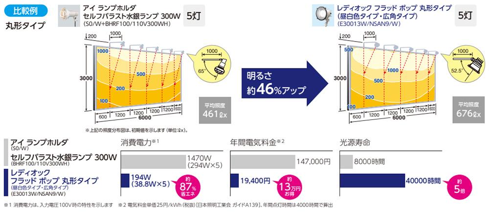 【岩崎電気】サインボード用投光器 レディオック フラット ネオ