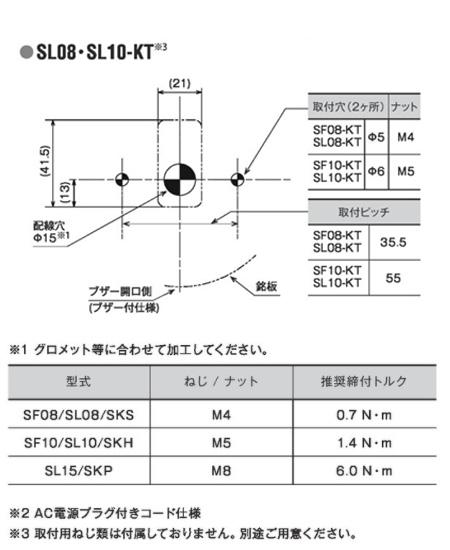PATLITE LED回転灯 モデルコード