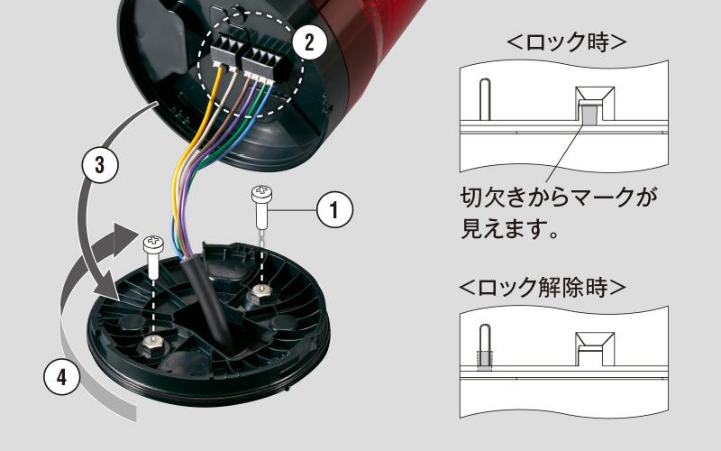 PATLITE LED回転灯 プッシュイン端子台仕様