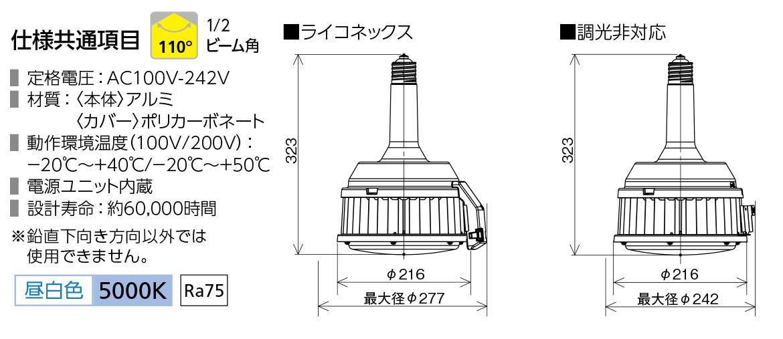アイリスオーヤマ 高天井用LED照明 RZ-Rシリーズ