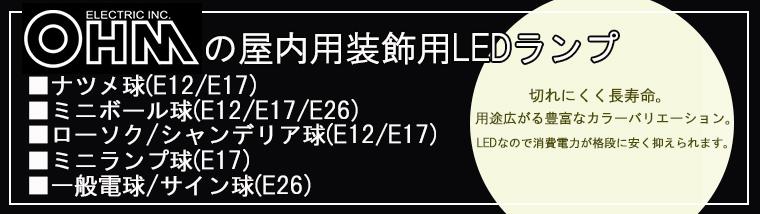 【 オーム電機 各種LED電球 特集